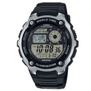 Relógio Casio Masculino Resina Preto Horário Mundial Digital AE-2100W-1AVDF