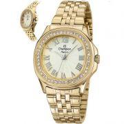 Relógio Champion Feminino Dourado Analógico Elegance CN27330G