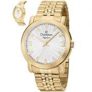 Relógio Champion Feminino Dourado Analógico Elegance CN27803H