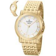 Relógio Champion Feminino Dourado Analógico Elegance CN27876H