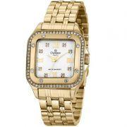 Relógio Champion Feminino Dourado Analógico Metal Elegance CN27321H