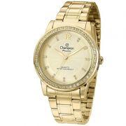 Relógio Champion Feminino Dourado Analógico Passion CN29150G