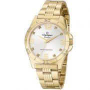 Relógio Champion Feminino Dourado Analógico Passion Metal CN29927H