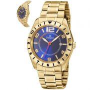 Relógio Champion Masculino Dourado Aço Analógico CA30187A
