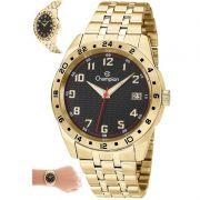 Relógio Champion Masculino Dourado Aço Analógico CA31382U