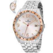 Relógio Champion Masculino Prata Aço Analógico CA31220Q