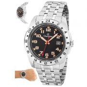 Relógio Champion Masculino Prata Aço Analógico CA31346T