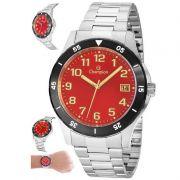 Relógio Champion Masculino Prata Aço Analógico CA31355V