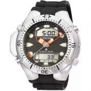 Relógio Citizen Masculino Aqualand II Poliuretano Preto Profundímetro JP1060-01E