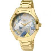 Relógio Condor Feminino Dourado Aço Inox Analógico Geométrico CO2036KOD/4K