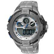 Relógio Condor Masculino Aço Inoxidável Cronógrafo Anadigi CO1154BR/3K