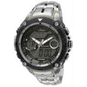 Relógio Condor Masculino Aço Inoxidável Cronógrafo Anadigi COAD1146AA/3P