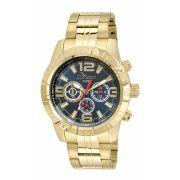 Relógio Condor Masculino Dourado Cronógrafo Aço Multi Função COVD54AR/4A