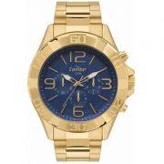 Relógio Condor Masculino Dourado Cronógrafo Multi Função Analógico COVD54BD/4A