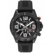Relógio Condor Masculino Silicone Preto Cronógrafo Multi Função Civic COVD54AVUL/8P