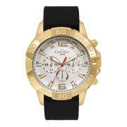 Relógio Condor Masculino Silicone Preto Cronógrafo Multi Função Civic COVD54BE/2K