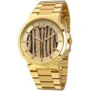 Relógio Euro Feminino Dourado Aço Analógico Casual Fauna EU2036LYK/4X