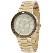 Relógio Euro Feminino Dourado Aço Analógico Facetados EU2035XZI/4R
