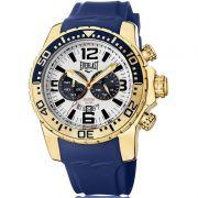 Relógio Everlast Masculino Azul Cronógrafo Silicone E649