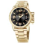 Relógio Everlast Masculino Dourado Aço Inox Analógico E497