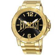 Relógio Everlast Masculino Dourado Aço Inox Analógico E600