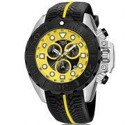 Relógio Everlast Masculino Preto Cronógrafo Silicone E615