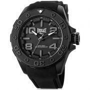 Relógio Everlast Masculino Preto Cronógrafo Silicone E616
