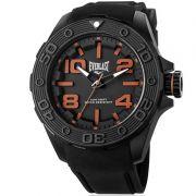 Relógio Everlast Masculino Preto Cronógrafo Silicone E619