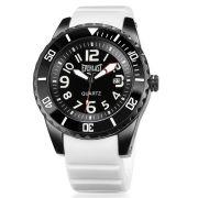 Relógio Everlast Masculino Silicone Branco Analógico Calendário E511