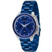 Relógio Lince Feminino Aço Inox Azul Acrílico Analógico LRA4431P D1DX