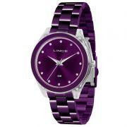 Relógio Lince Feminino Aço Inox Roxo Acrílico Analógico LRV4431P L1LX
