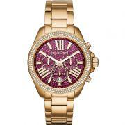 Relógio Michael Kors Feminino Dourado Cronógrafo Analógico MK6290/4TN