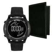 Relógio Mormaii Masculino Acqua Couro Preto Digital MO11273D/K2C