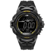 Relógio Mormaii Masculino Borracha Preto Acqua Digital Cronógrafo MO1147A/8P