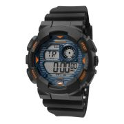 Relógio Mormaii Masculino Borracha Preto Wave Digital Cronógrafo MO3415A/8A