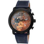 Relógio Mormaii Masculino Couro Azul Analógico MOJP25CAJ/3A