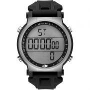 Relógio Mormaii Masculino Silicone Preto Digital Cronógrafo Iluminação Alarme Dual Time MO3577A/8K