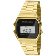 Relógio Mormaii Unissex Aço Vintage Digital Dourado MOJH02AB/4P