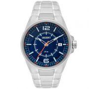 Relógio Orient Masculino Calendário Aço Inoxidável Prata MBSS1314 DOSX