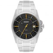 Relógio Orient Masculino Calendário Aço Inoxidável Prata MBSS1317 GYSX