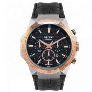Relógio Orient Masculino Couro Cronógrafo Multifunção Solar MTSCC018 P1PX