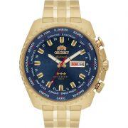 Relógio Orient Masculino Cronógrafo Aço Inoxidável Dourado Calendário Automatic 469GP057 D1KX