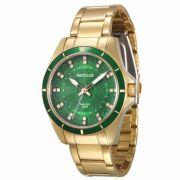 Relógio Seculus Feminino Dourado Analógico Aço 28431LPSVSDA2