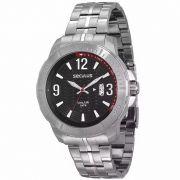 Relógio Seculus Masculino Analógico Prata Aço 28484GOSVNA1