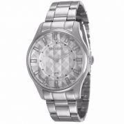 Relógio Seculus Masculino Analógico Prata Aço 28582LOSVNS2