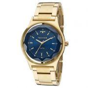 Relógio Technos Feminino Aço Inoxidável Dourado Elegance Crystal Analógico 2035MIC/4A