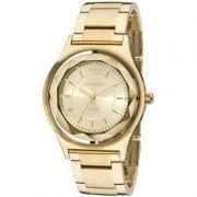 Relógio Technos Feminino Aço Inoxidável Dourado Elegance Crystal Analógico 2035MIC/4X