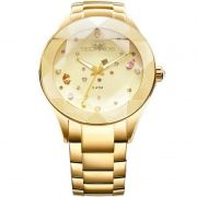 Relógio Technos Feminino Dourado Crystal Analógico Aço Inox 2039ATDTM/4X