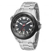 Relógio Technos Masculino Aço Inox Prata Hora Mundi Analógico 2115KNU/1K