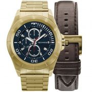 Relógio Technos Masculino Connect Smartwatch Dourado Aço Inox SRAB/4P